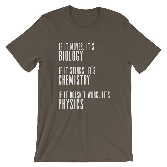 If It Moves It's Biology Unisex Shirt - Biology shirt, Chemistry Shirt, Physics shirt, Chemistry shirt, Science shirt, Periodic table shirt