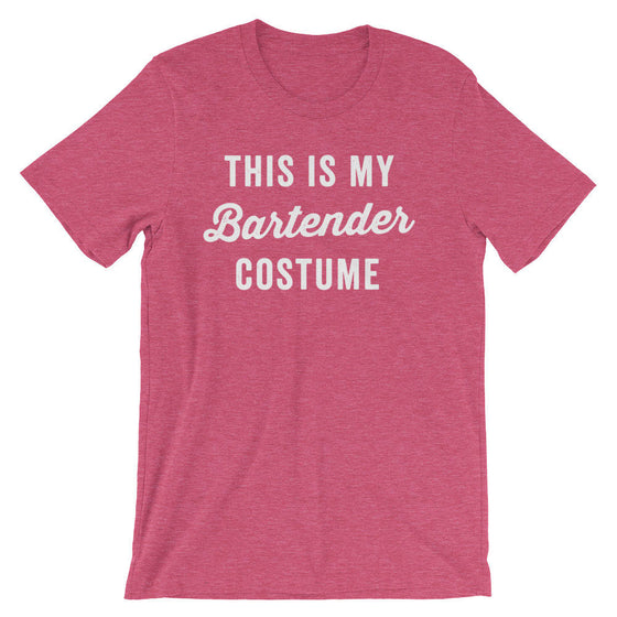 This Is My Bartender Costume Unisex Shirt - Bartender shirt | Bartender gift | Gift for bartender | Drinking shirt | Funny bartender tee