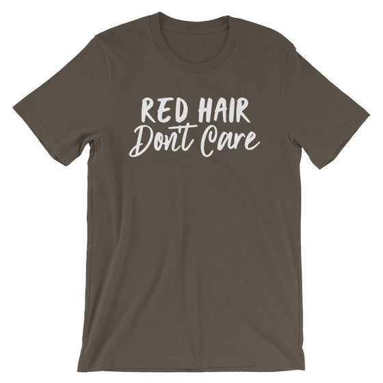 Red Hair Don't Care Unisex Shirt - Redhead Gift, Red Head Shirt, Ginger Hair, Best Friend Gift, Read Hair Gift, Hair Stylist Gift