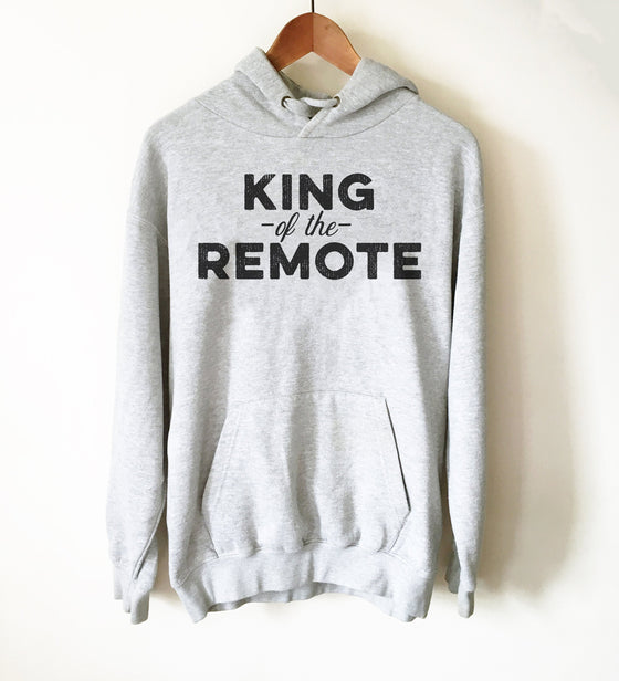 King Of The Remote Hoodie - tv Shirt, tv Gift, tv Show Shirt, Television Shirt, Television Gift, Reality tv Shirt