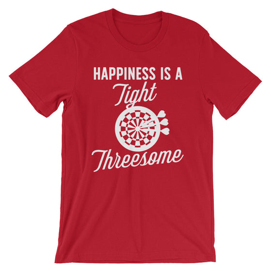 Happiness Is A Tight Threesome Unisex Shirt - Darts Shirt, Dart Shirt, Darts, Sports Shirt, Championship Shirt, Team Tshirts, Bullseye Shirt