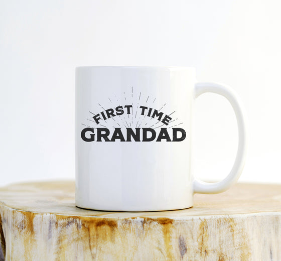 First Time Grandad Mug - Dad Gift, Grandad Gift, Grandparent Gifts, Grandad Mug, Baby Announcement, Grandpa Mug, Gender Reveal Ideas