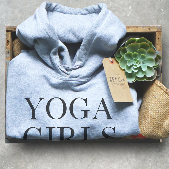 Yoga Girls Are Twisted Hoodie - Yoga Shirt, Zen Yoga Clothing, Yoga Workout Clothes, Yoga Wear, Yoga Clothes, Yoga T Shirts Funny