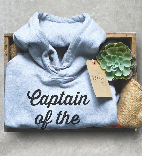Captain Of The Pontoon Hoodie - Pontoon Hoodie, Pontoon Girl Shirt, Captain Shirt, Sailor Shirt, Nautical shirt, Navy Shirt, Sailing Shirt