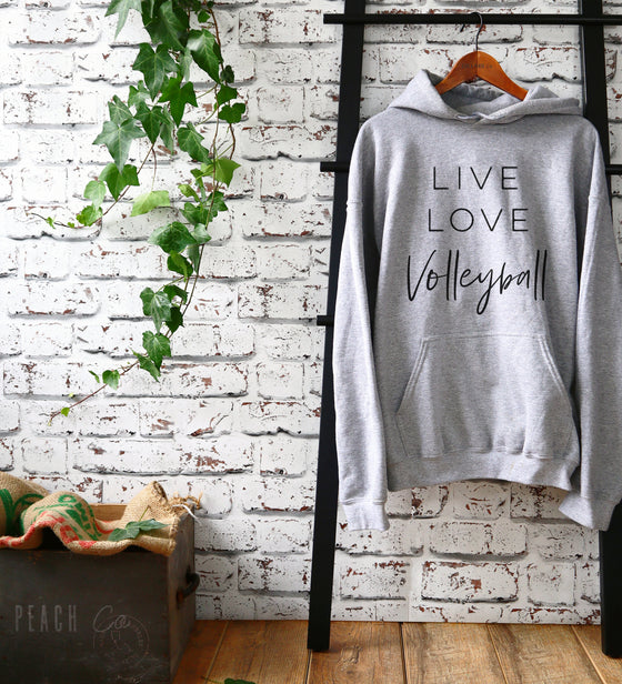 Live Love Volleyball Hoodie - Volleyball Shirt, Volleyball Mom Shirt, Volleyball gift, Volleyball team, Volleyball player, Volleyball Coach