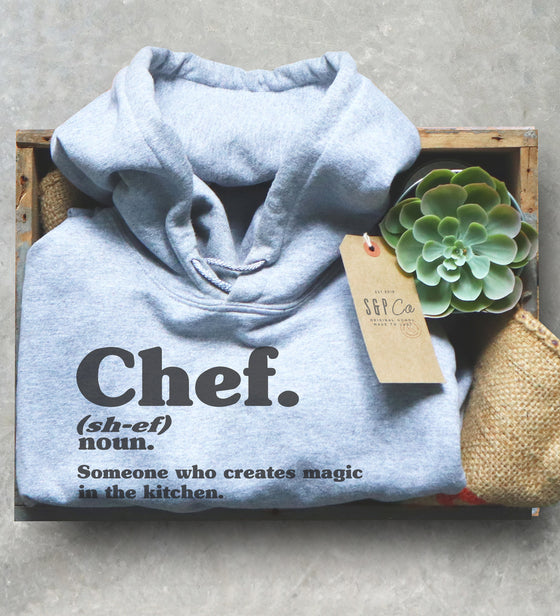 Chef Dictionary Definition Hoodie - Chef shirt, Chef gift, Cooking shirt, Foodie shirt, Cooking gift, Culinary gifts, Food shirt, Sous chef