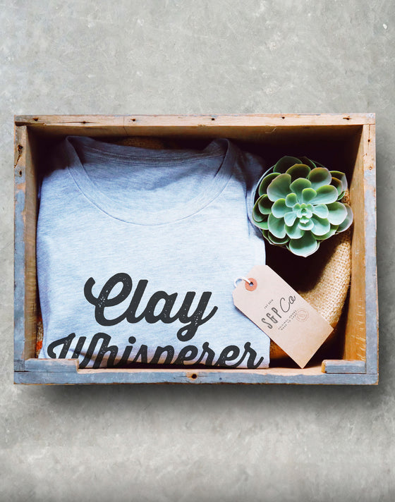 Clay Whisperer Unisex Shirt - Pottery shirt | Pottery lover | Funny pottery shirt | Ceramics and pottery | Pottery gift