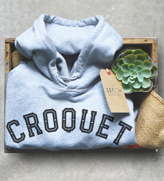 Croquet Queen Hoodie - Croquet Shirt, Croquet Gift, College Shirt, College Gift, Croquet Club, Cambridge Shirt