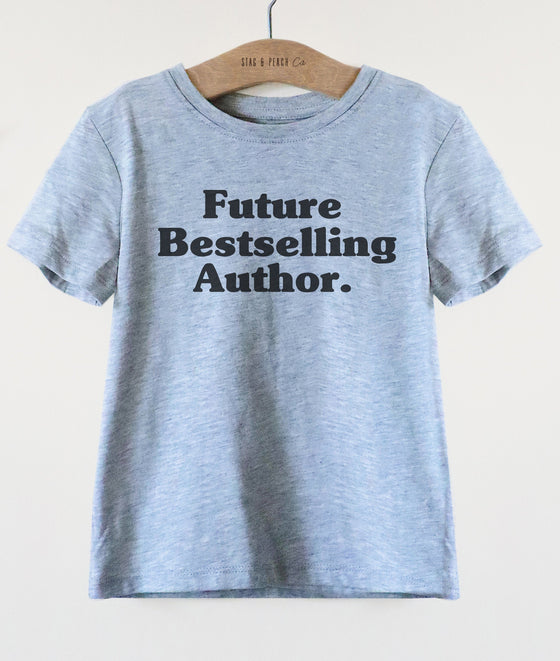 Future Bestselling Author Kids Shirt - Author Kids Shirt, Future Author Shirt, Writer Shirt, Author Gift, Writer Toddler Tee, Writing Shirt