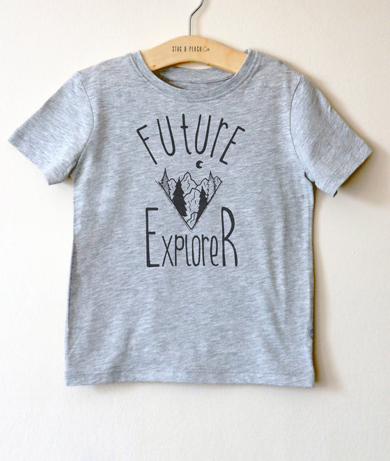 Future Explorer Kids Shirt -Explorer Shirt, Adventure Shirt, Explore Shirt For Kids, Hiking Shirt, Travel Shirt, Outdoors Shirt For Toddlers