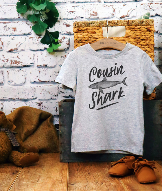 Cousin Shark Kids Shirt, Pregnancy Announcement, Baby Shower Gift, Big Cousin Shirt, Family Pregnancy Reveal, Cousin Shirts, Toddler Shirt