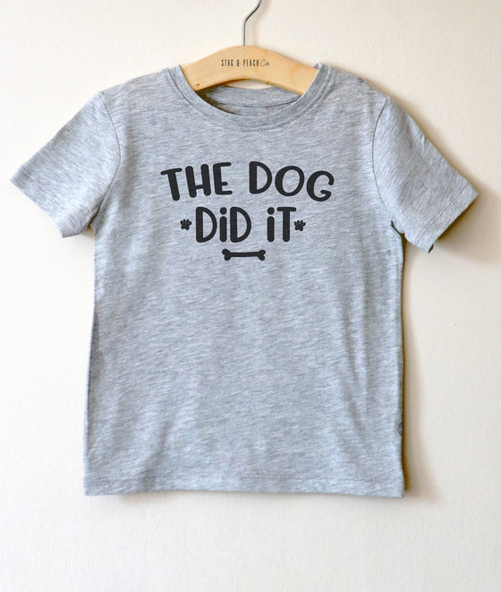 The Dog Did It Kids Shirt - Dog