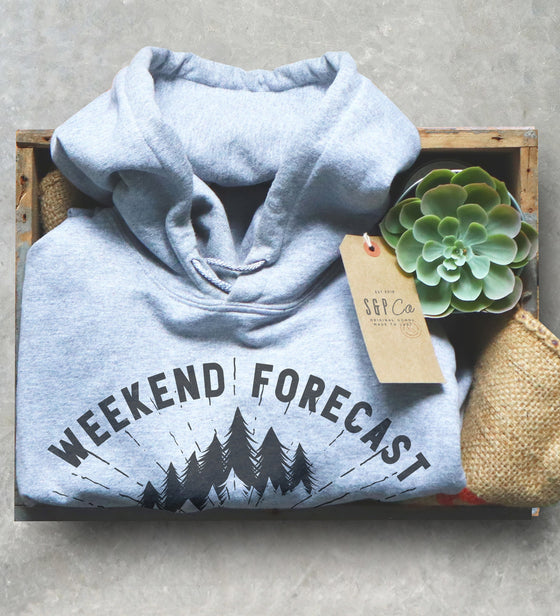 Weekend Forecast Road Trip Hoodie - Road Trip Shirt, Road Trip Gift, Adventure Shirt, RV Shirt, RV Gift, Travel Shirt, Wanderlust Shirt