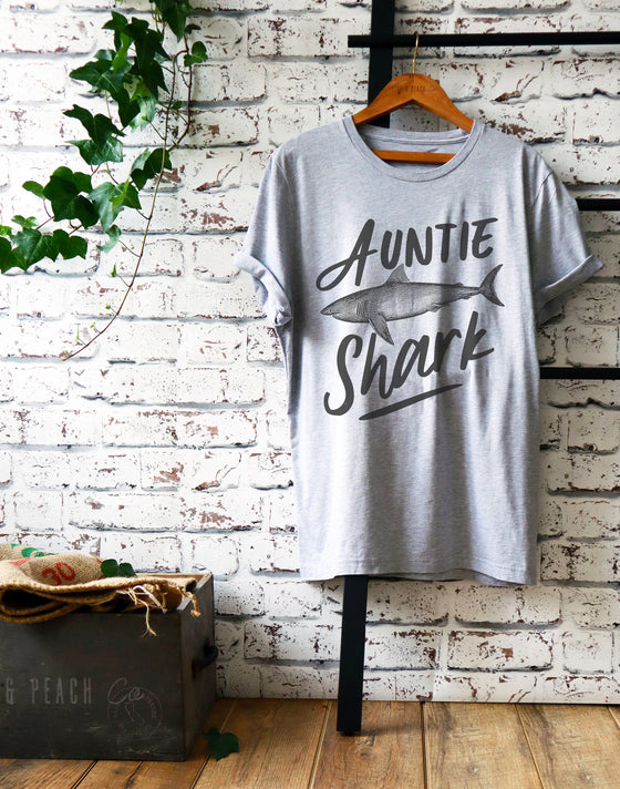 Auntie Shark Shirt - Shark Family Shirt - Auntie Shirt - Pregnancy Announcement shirt - pregnancy reveal to aunt - aunt gift new aunt shirt