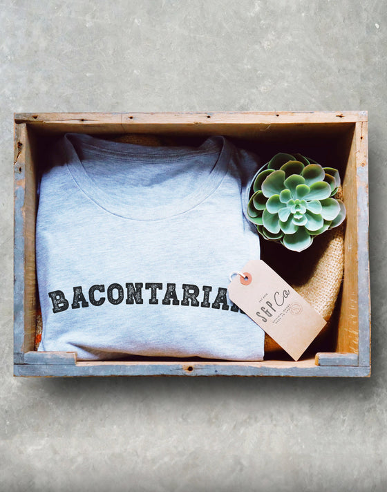 Bacontarian Unisex Shirt - Meat Eater Shirt, Food Lover Shirt, Keto T Shirt, Keto, Ketones, Ketogenic Diet, Ketosis, Keto AF, Low Carb
