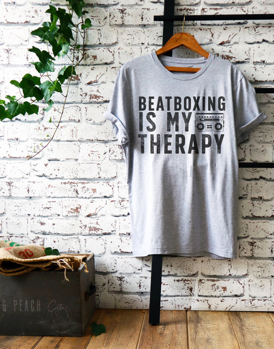 Beatboxing Is My Therapy Unisex Shirt - Beatboxing Shirt, Beatboxing Gift, Beatboxer Gift, Beatboxer Shirt, Music Shirt, Hip Hop Shirt