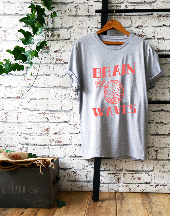 Brain Waves Unisex Shirt - Science shirt, Science gift, Funny science shirt, Surgeon shirt, Science teacher gift, Surgeon gift, Geek shirt