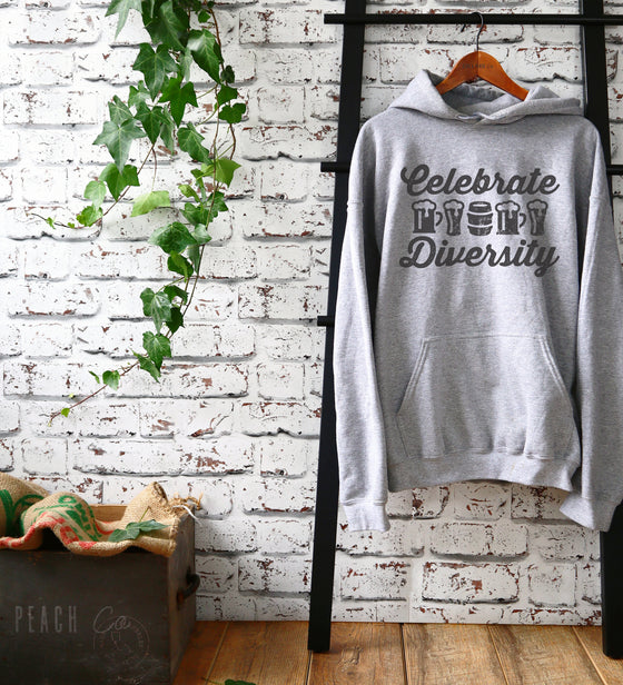 Celebrate Diversity Hoodie -  Beer Hoodie, Beer Shirt, Drinking Shirt, Craft Beer Shirt, Beer Lover Gift, Home Brew Shirt, Beer Lover Shirt