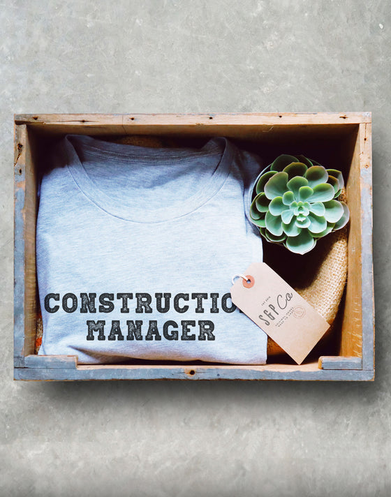 Construction Manager Unisex Shirt - Construction Shirt, Contractor Shirt, Construction Party, Builder Shirt, Fathers Day Shirt, Demolition