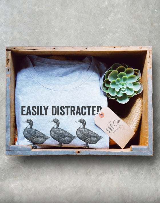 Easily Distracted By Ducks Unisex Shirt - Duck Shirt, Duck Gift, Farmer Shirt, Farmer Gift, Duck Hunting, Rubber Duck, Duck Lover Gift