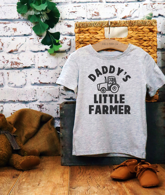 Daddy's Little Farmer Kids Shirt -Farm Toddler Shirt, Farm Shirts For Kids, Farm Toddler Clothes, Barnyard Birthday, Toddler Tractor Shirt