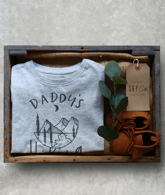 Daddy's Hiking Buddy Kids Shirt