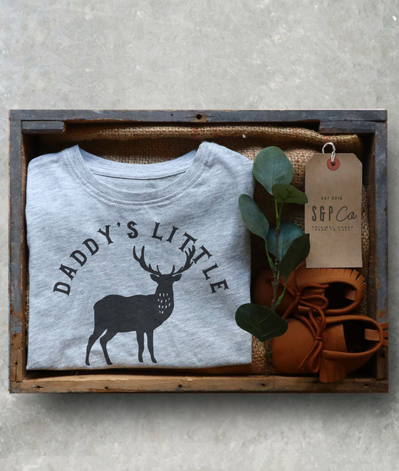 Daddy's Little Hunting Buddy Kids Shirt - Hunting Gifts, Deer Print Shirt, Deer Hunting Shirt, Hunting Kids Clothes, Hunting Toddler Gift