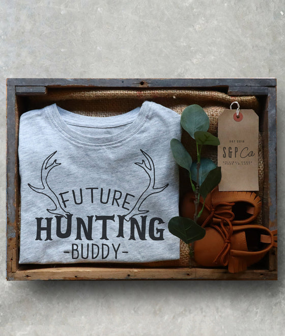 Future Hunting Buddy - Hunting Gifts, Deer Print Shirt, Deer Hunting Shirt, Hunting Kids Clothes, Hunting Toddler Gift, Deer Shirt