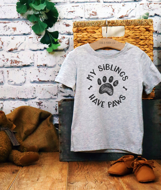 My Siblings Have Paws Kids Shirt