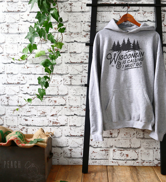 Wisconsin Is Calling Hoodie -Wisconsin Shirt, Midwest Gift, Great Lakes Shirt, Madison Shirt, Milwaukee Shirt, State Pride, Spring Green Tee