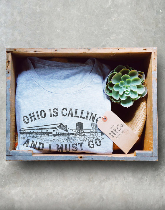 Ohio State Unisex Shirt - Ohio Is Calling And I Must Go Shirt, Buckeye Shirt, Ohio Home Shirt, Columbus Shirt, Midwest Shirt, Farm Shirt