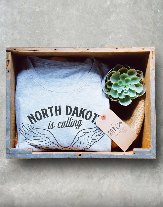 North Dakota Is Calling Unisex Shirt - Fargo Shirt, ND Gifts, Eagle Shirt, State Pride Shirt, Roosevelt National Park Shirt, Moving Gifts