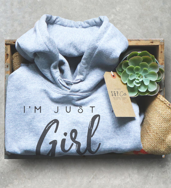 I'm Just A Girl Who Loves Horses Hoodie -  Horse riding hoodie , Horse shirt, Equestrian shirt, Equestrian gift, Horseback riding