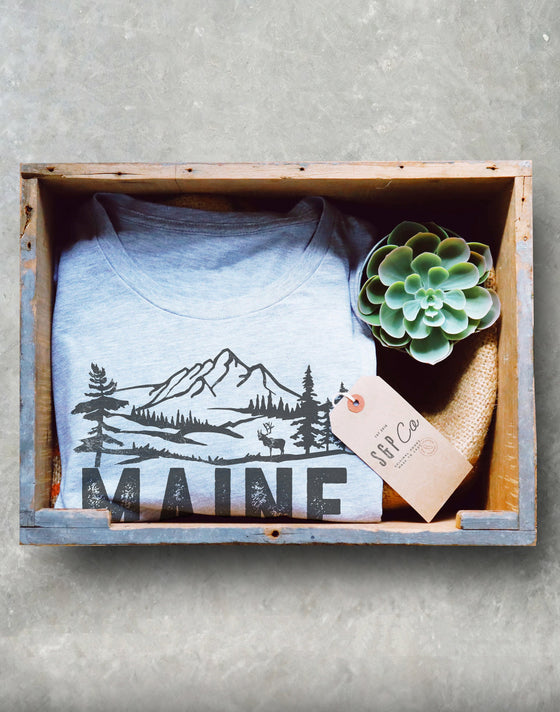 Maine Is Calling And I Must Go Unisex Shirt - Maine Shirt, Portland Gift, Moose Shirt, Mountains Shirt, ME State T-Shirt, Lakes Shirt