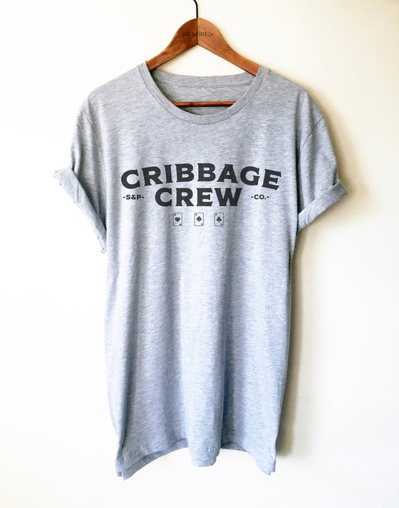 Cribbage Crew Unisex Shirt - Crib Game Shirt, Cribbage Lover Shirt, Gift For Dad, Cards T-Shirt, Matching Team Shirts, Funny Cribbage Shirt