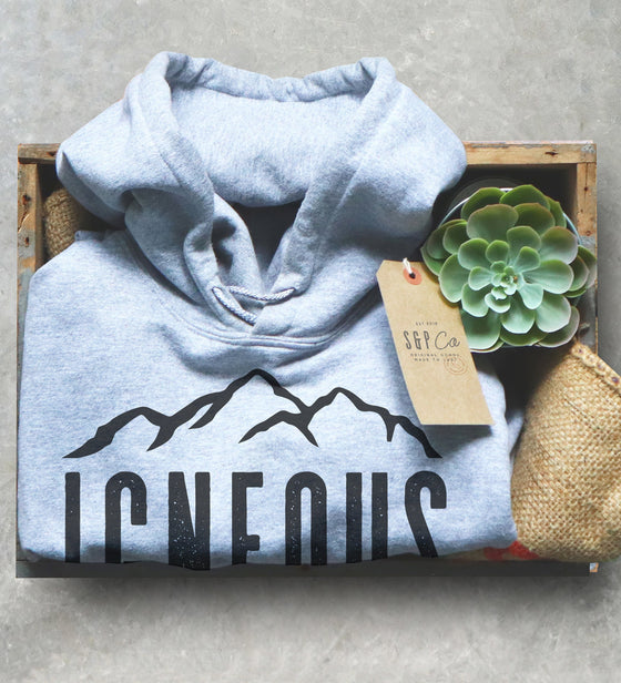 Geology Graduation Gift - Igneous Is Bliss Hoodie, Geologist Shirt, Geology Professor Sweatshirt, Funny Geology Teacher, Petrologist Tee