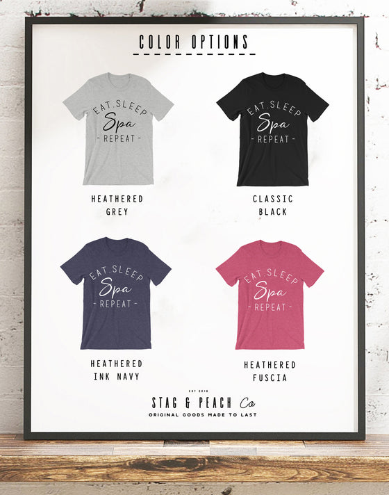 Spa Unisex Shirt - Eat Sleep Spa Repeat Saying, Spa Trip Shirt, Birthday Gift, Spa Party Shirts, Best Friend Matching Shirts, Princess Bday