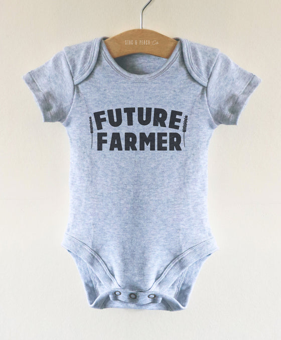 Future Farmer Baby Bodysuit - Farmer Baby One Piece, Farming Baby, Pregnancy Reveal Gift, 1st Birthday Gift, 2nd Birthday Gift, Baby Farmer