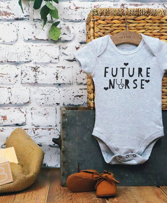 Future Nurse Baby Bodysuit - RN Baby Shower Gift, Nurse Baby One Piece, Baby Girl Clothing, Stethoscope Bodysuit, NP Gift, CRNA Baby Clothes