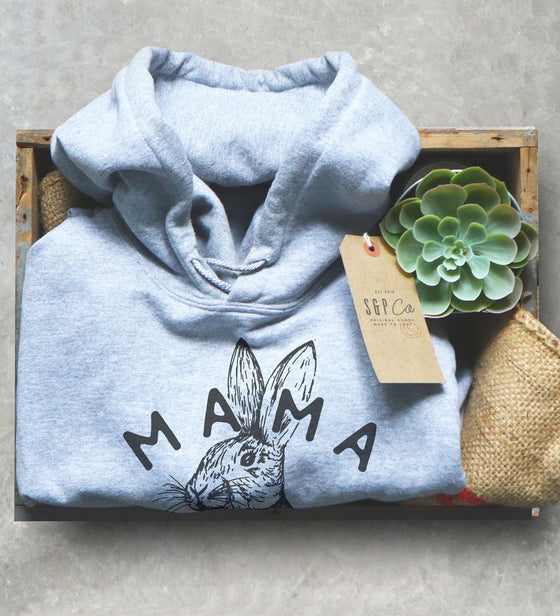 Mama Bunny Unisex Hoodie - Rabbit Lover Gift, Bunny Owner Shirt, Rabbit Mom Shirt, Easter Mama Shirt, Bunny Pregnancy Reveal Shirt, Mom Gift