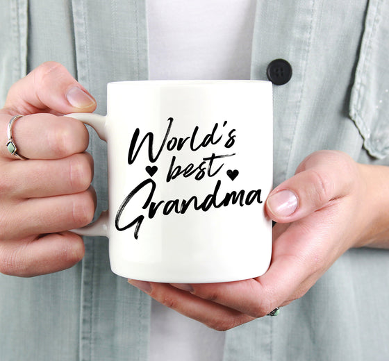 World's Best Grandma Mug - Grandmother Gift, Gift For Grandma, Grandma Coffee Mug, Nana Mug, Mothers Day Mug, Pregnancy Announcement Grandma