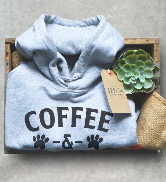 Coffee and Bulldogs Unisex Hoodie -