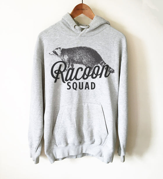 Raccoon Squad Unisex Hoodie - Gift For Raccoon Lover, Raccoon Owner Shirt, Quebec Shirt, Canada Shirt, Raccoon Rescue, Gift For Rescue Team