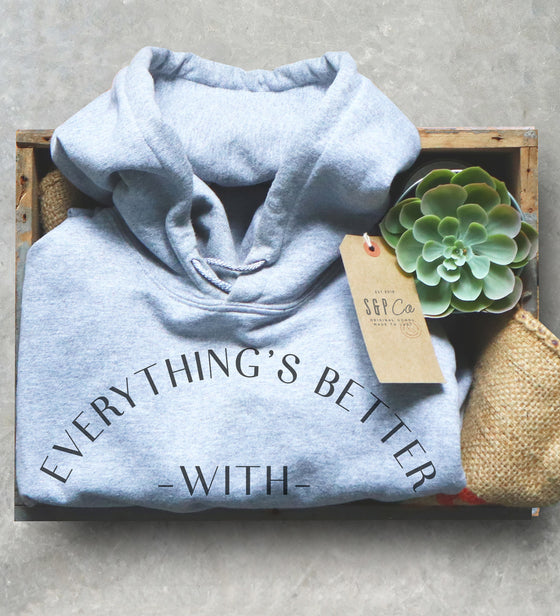 Matcha Green Tea Unisex Hoodie - Everything Is Better With Matcha, Wellness Shirt, Yogi Gift, Detox Shirt, Japan Shirt, Tea Ceremony Gift