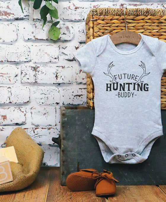 Future Hunting Buddy Baby Bodysuit - Hunter One Piece, Hunting Baby Clothes, Fathers Day Gift, New Dad Gift, Hunting Dad, Father Son Shirts