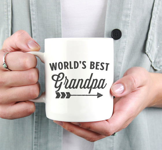 World's Best Grandpa Mug - Grandpa Coffee Mug, Grandad Mug, Pregnancy Announcement Gift For Dad, New Grandparent Gift, Gift From Grandchild