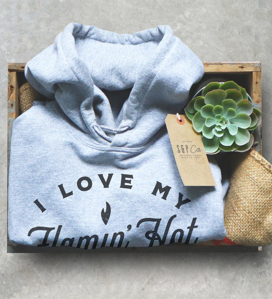 I Love My Flamin' Hot Wife Unisex Hoodie - Gift For Husband, Gift For Wife, LGBT Shirt, Married Shirt, Wedding Anniversary Gift, Husband Tee