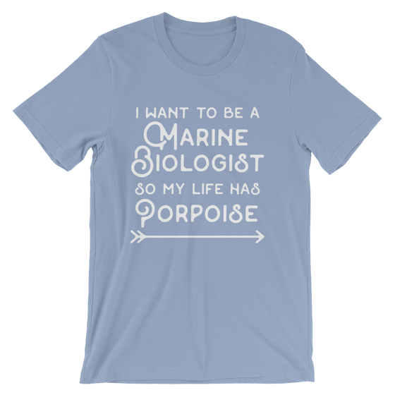 I Want To Be A Marine Biologist Unisex Shirt - Marine Biologist, Marine Biology, Ocean, Nautical Shirt, Gift For Biologist, Dolphin Shirt