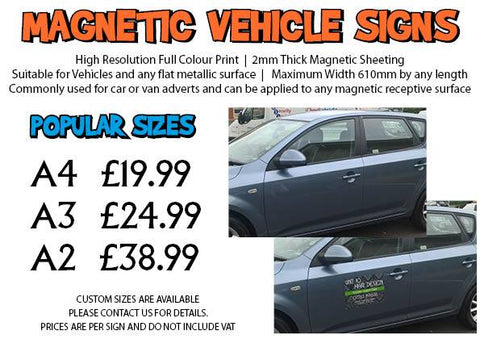 Magnetic Vehicle Signs