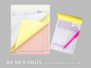 A4 NCR Pads (No Carbon Required)